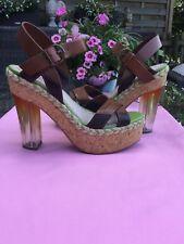 Miss Sixty Highheel Sandalette Plateau Plexiabsatz 39 Party Hochzeit Ball 🍹
