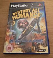 Destroy All Humans! 1 COMPLETE Sony Playstation 2 PS2 Game FREE P&P