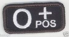 VEL-KRO BLOOD TYPE PATCH /  O +  / SWAT BLACK / BTDC12