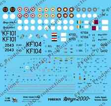 [FFSMC Productions] Decals 1/48 Foreign Mirage 2000 Inde, Egypte, Taiwan, Qatar