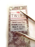 ChiaoGoo Twist 4 Inch (10 cm) Red Lace IC Tips - Knitting Needles MPN 7504