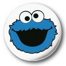 COOKIE MONSTER - 1 inch / 25mm Button Badge - Cute Novelty Sesame Street Muppets