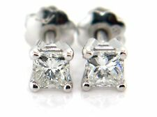 0.51 CT Princess Cut Diamond Stud Earrings VS2/F 14K White Gold