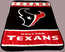 Houston Texans blanket bedding 60x80 PLUSH FREE SHIPPING NFL AFC football