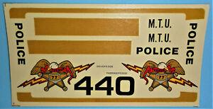 "Vintage DECAL SHEET for 1978 MPC - Dodge Police Car ""FORCE 440"" Model Kit 1/25"