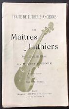 R.Fissore TRAITÉ DE LUTHERIE ANCIENNE - LES MAÎTRES LUTHIERS - COTE DES VIOLONS