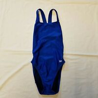 Speedo Womens Sz 30 Pro LT Onepiece Royal Blue Swimsuit Swim Wear Racerback