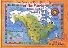 ~~~The Seven Continents Of The World Jigsaw Puzzle Book..6 HB Puzzles  HC~~~