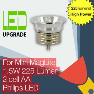 Mini MagLite LED Conversion/upgrade bulb 225LM High Power Torch/flashlight 2AA
