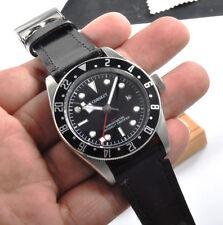 Corgeut Black Dial Bay GMT Military Sport Swim Leather Mechanical  Wristwatches