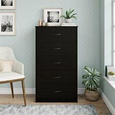 5 Drawer Dresser Cabinet Chest Clothes Storage Bedroom Organizer Divider Home