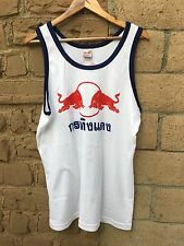 Men's Red Bull L size WHITE T-SHIRT TANK TOP - US Seller Fast Shipping
