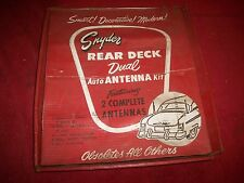 Vintage 1950's NOS Snyder Rear Deck Dual Radio Antenna Kit Display Lowrider Sled