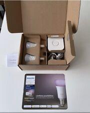 Phillips Hue White & Colour Ambience Starter Kit - E27 2 Bulbs