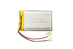 3.7 v - 2000 mAh Lipo Akku Lithium  Polymer Battery 2000mAh mit PCB
