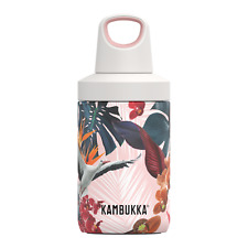 Kambukka Reno Insulated Hot/Cold Water Bottle, 300ml - Stainless Steel - Orchids