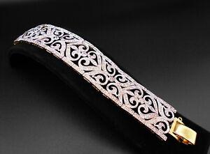 Luxurious CZ 18K 22K Thai Baht Yellow Gold Plated Bracelet Bangle Women Jewelry