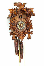 cuckoo clock black forest 1 day original german wood carving mechanical handmak