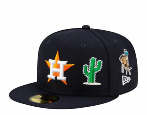 New Era 59Fifty MLB Houston Astros City Transit Blue Fitted Hat 60185113