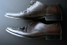 HUGO BOSS COLLECTION SOLID BROWN SQUARE TOE LEATHER DRESS SHOES SIZE: 9