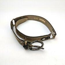 Vintage La Doppia Vita Tan Leather Belt Womens Small 70/26 Made in Italy