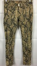 DL 1961 EMMA LEGGING SLITHER Skinny Jeans Womens Sz 25 Brown Stretch Snake Print