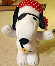 "Snoopy Pirate 18"" Halloween Porch Greeter New Peanuts Plush"
