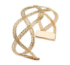 Hot Luxury Women Fashion 18K Gold Plated Hollow Cuff Bangle Punk Charm Bracelet
