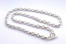 Taxco Mexican Long 925 Sterling Silver Cable Chain Necklace. 111g, 76cm, 30""
