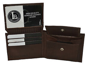 KIDS BOYS SLIM  COMPACT FLAP ID AND COIN POCKET BIFOLD WALLET Dark Brown