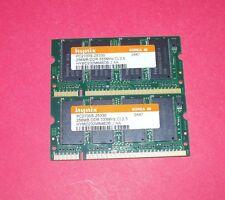 Hynix 256 MB x 2 (512 MB Total) SO-DIMM 333 MHz DDR Memory (HYMD232M646D6J)