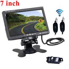 """Car 7"""" TFT LCD Rear View Monitor + Wireless Night Vision Reverse HD Camera kits"""