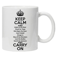 D&D  Role Playing KEEP CALM Coffee Tea Mug Dungeons and Dragons Tabletop Gaming