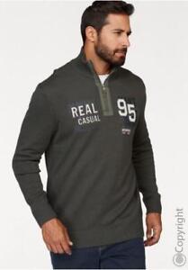 Troyer Strickpullover Sweat-Shirt  Übergrößen von 2XL bis 4XL in grau