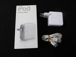 Original Apple iPod Adapter Ladegerät Firewire Kabel-Charger-M9837ZM/A-A1070,OVP