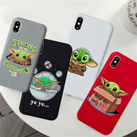 Phone Case Cute Baby Yoda iPhone Soft Silicone Cover Shell for Apple 6 7X XS MAX