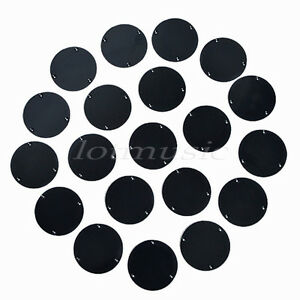 20 pcs Black Guitar Switch Cover New Switch Cavity Back Plate ABS