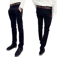 Hot Spring Men's Skinny Casual Pencil Dress Pant Slim Leg Leisure Jeans Trousers