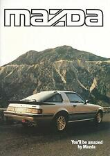 Mazda Brochure 1985 62 Pages Ft RX7 626 323 929 B1800 E2000 Excellent Condition