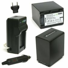 Wasabi Power Battery (2-Pack) and Charger for Sony NP-FV100