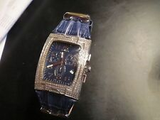 Ice Link Aquila Chronograph Date Watch with 425 genuine diamonds in original box