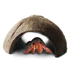 1-Pk Hermit Crab hut Arthropod Coconut Hide Spacious Coco Tunnel Maximum Privacy