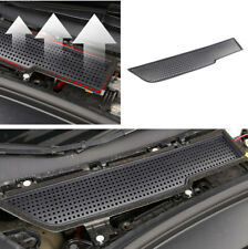 1x Black ABS Car Air Inlet Protection Cover Double-sided Tape For Tesla Model 3