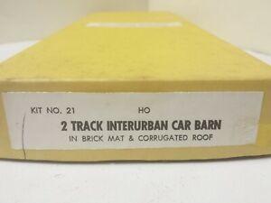 Suydam Kit # 21 - 2 Track Interurban Car Barn Railroading HO Scale