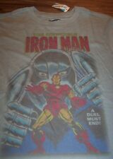VINTAGE STYLE THE INVINCIBLE IRON MAN Marvel Comics T-Shirt YOUTH MEDIUM NEW