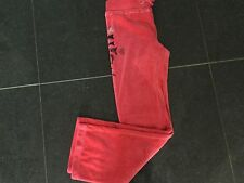NWT Juicy Couture New & Genuine Girls Age 8 Pink Velour Pants With Juicy Logo