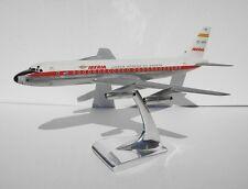 Mecater Iberia Douglas DC-8-52 Metal Desk Display 1/70 Vtg Jet Model Airplane
