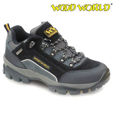 MENS Wood World LEATHER SAFETY STEEL TOE CAP WORK TRAINERS SHOES BOOTS SIZE 5-14