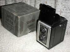SPARTUS FULL VIEW TWIN-LENS REFLEX CAMERA, WITH ORIGINAL BOX AND MANUAL