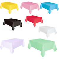 "Plastic TABLECOVERS Table Cloth Cover Catering Events Party Tableware 54""x72"""